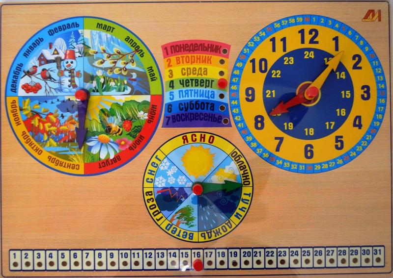 Как сделать часы календарь