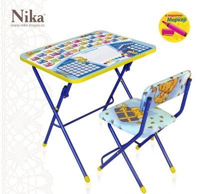 Детский столик и стульчик Первоклашка Азбука