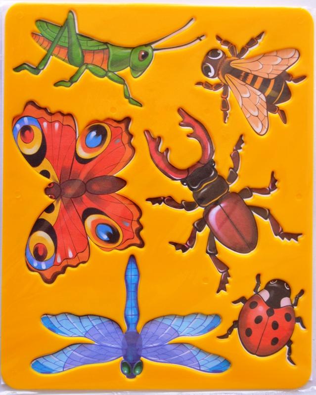 ведет объемные картинки насекомых другой стороны
