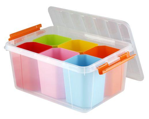 написать пластиковые разноцветные боксы для мелочей купить в москве крупных, три-четыре мелких