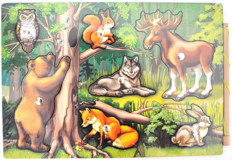 картинки лесные звери с детьми