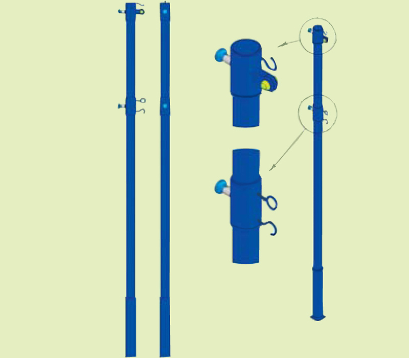 Столбы для волейбольной сетки своими руками