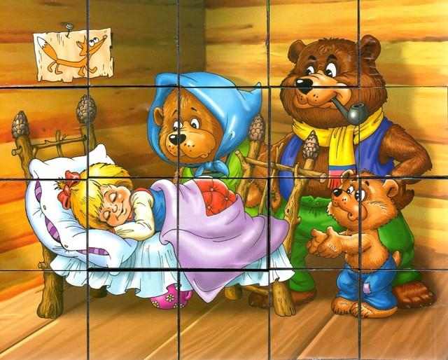 разрезная картинка маша и медведь пару