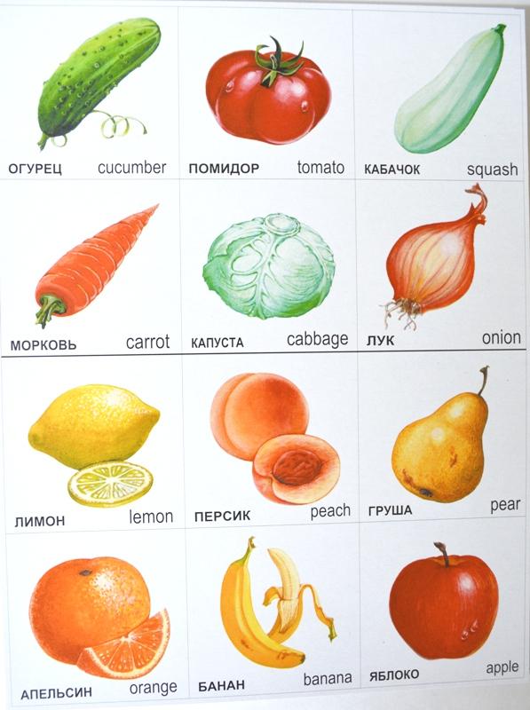 Картинки овощи и фрукты для детей для занятий